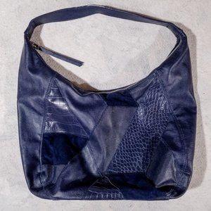 Nine West Dark Blue Patchwork Style Zipped Purse